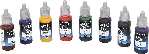 Vallejo 72296 Game Colour Game Ink 8 Colour Set Acrylic Paint