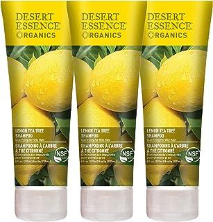Desert Essence Lemon Tea Tree Shampoo - 8 Fl Oz - Pack Of 3 - Removes Excess Oil - Revitalizes Scalp - Stre...