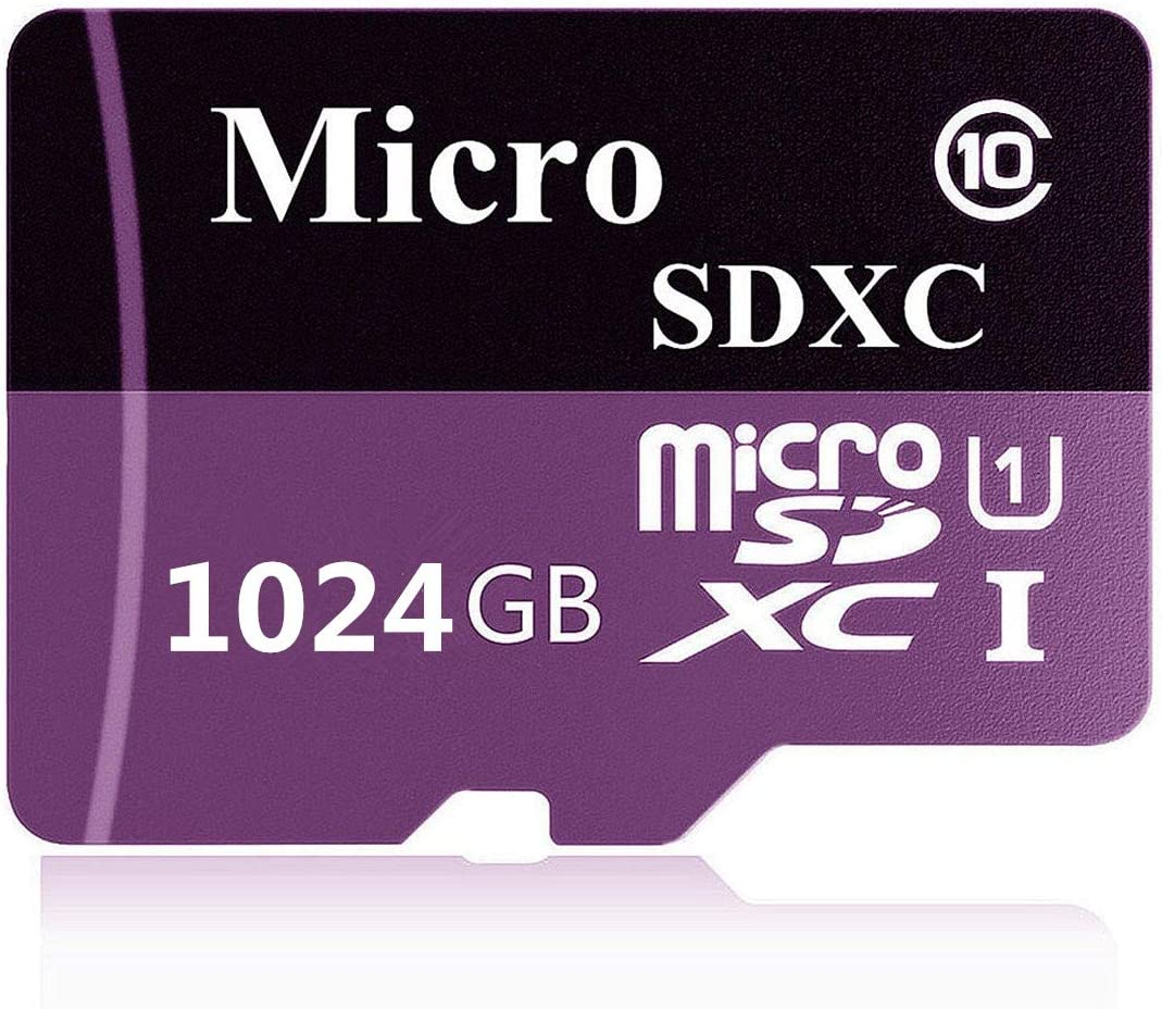 1TB Micro SD Card High Speed Class 10 Memory SDXC Card with SD Adapter
