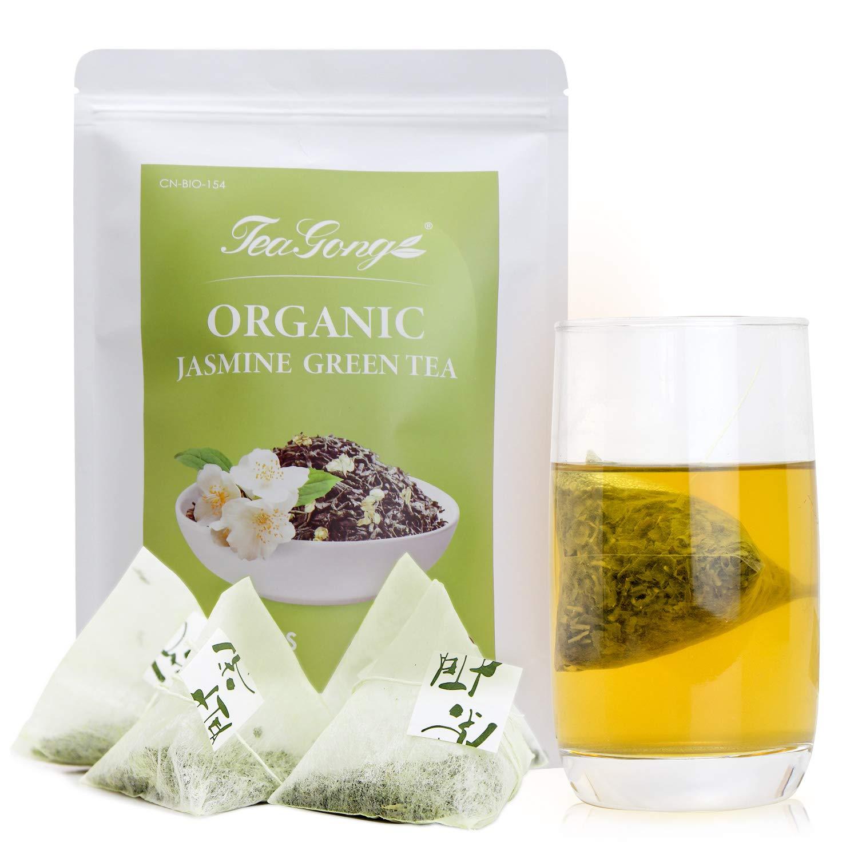 TeaYong Gifts Organic Cheap Jasmine Green Tea Bags Count Low Caffeine Pac 50