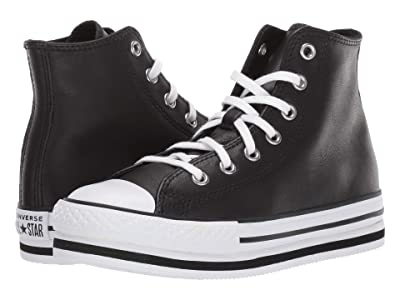 Converse Kids Chuck Taylor(r) All Star(r) Platform EVA (Little Kid/Big Kid) (Black/White/Black) Kid