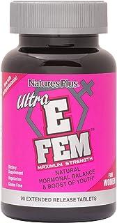 NaturesPlus Ultra E Fem Extended Release Tablets - 90 Vegetarian Tablets - Hormonal Balance - Promotes Healthy Libido, Sex...