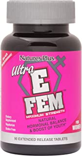 NaturesPlus Ultra E Fem Extended Release Tablets - 90 Vegetarian Tablets - Hormonal Balance - Promotes Healthy Libido, Sexual Health & Sleep - Soothes Hot Flashes - Gluten-Free - 30 Servings