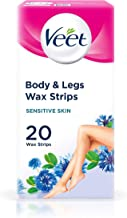 Veet Wax Strips With Easy Grip Sensitive Skin - 20 Strips