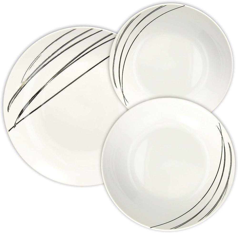 Tognana juliet, servizio di piatti da 18 pezzi, in porcellana ME070185525