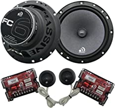 Massive Audio FC6 – 6 Inch / 6.5 Inch 150w / 300 Watts MAX, 25mm Silk Dome Tweeter, 4 Ohm, 12dB X-Over, Component Car Speaker System. Sold as Pair