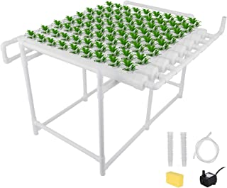 DreamJoy Hydroponic Grow Kit 72 Sites 8 Pipe NFT PVC Hydroponic Pipe Home Balcony Garden Grow Kit Hydroponic Soilless Plant Growing Systems Vegetable Planting Grow Kit (72Site 8Pipe)
