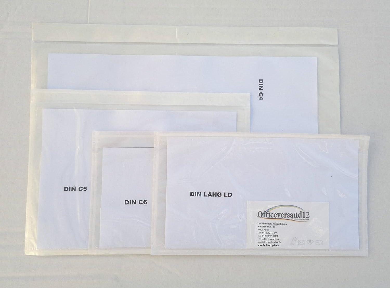 Lieferscheintaschen Dokumententaschen C6, LD, C5, C4, ohne druck transparent (transparent, (transparent, (transparent, C5 1000 St.) B01785RGMO    | Produktqualität  86f2f1