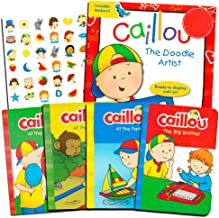 Caillou Board Book Set for Toddlers Kids -- 5 Books and Bonus Stickers (Party Supplies)