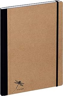 Pagna Notatnik A4 Pur, okładka z papieru typu kraft z wytłoczeniem, 192 strony papieru w kratkę