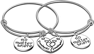 Mom Gift from Daughter Mother Daughter Matching Heart Bracelet Daughter Gifts Long Distance Relationship Bangle