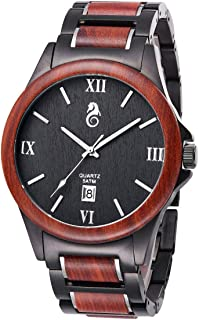 TJW Wood Wrist Watch | Classic Collection Analog Watch | Wood and Stainless Steel Watch