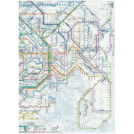 東京カートグラフィック 鉄道路線図クリアファイル 首都圏 日本語 RFSJ
