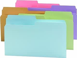 Smead SuperTab File Folder, Oversized 1/2-Cut Tab, Legal Size, Assorted Colors, 100 per Box (15906)