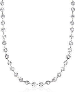 Best cz station necklace silver Reviews