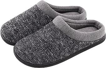 Men's Comfort Cotton Memory Foam House Slippers Slip On Shoes Indoor/Outdoor