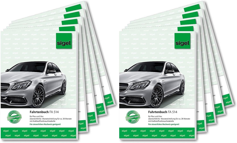 SIGEL FA514 FA514 FA514 10 Fahrtenbücher für PKW und LKW, A5, 32 Blatt, 10er Pack B0076IWUYI | Creative  5a4d45