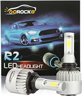 VoRock8 R2 COB 9006 HB4 9006XS 8000 Lumens Led Headlight Conversion Kit, Low Beam Headlamp, Fog Driving Light, Halogen Head Light Replacement, 6500K Xenon White, 1 Pair