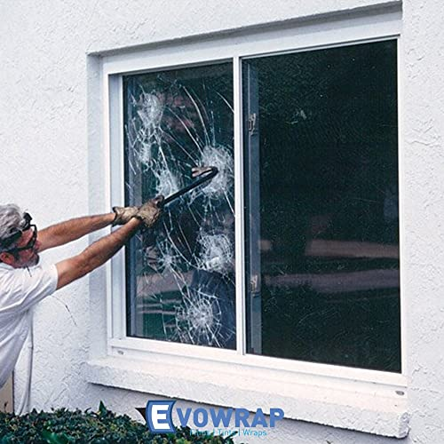 REFLECTIVE SILVER 20 200 MICRON SAFETY SECURITY ONE WAY ANTI SHATTER WINDOW FILM