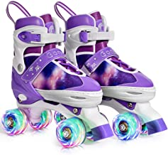Gonex Roller Skates for Girls Kids Boys Women with Light up Wheels and Adjustable Sizes for Indoor Outdoor