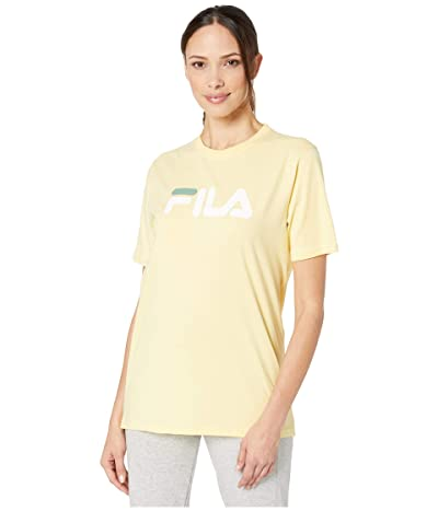 Fila Eagle Tee (Pale Banana/White/Feldspar) Women