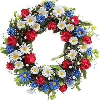 Fourth of July WreathPatriotic wreathUSA wreathMemorial day wreathfront doing wreathmesh wreathsstars wreath