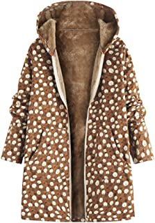 Womens Maternity Outerwear Vintage Floral Hooded Toggle Down Parka Coat Faux Fur Winter Jacket Plus Size Sleep