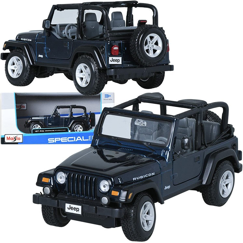 Maisto 1 27 Jeep Wrangler Rubicon Deep bluee Display Miniature Car
