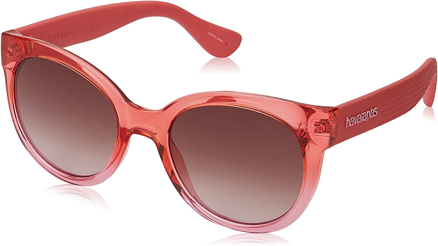 Havaianas Women's Ngoldnha m Round Sunglasses, Coral, 52 mm