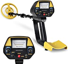 INTEY Metal Detector - High Precision Adjustable Height with Waterproof Coil for Detecting Jewelry, Gold, Silver, Beach Treasures, Metal Detector for Beginner