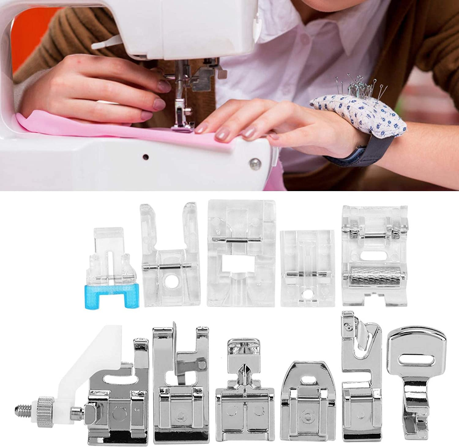 Clearance SALE! Limited time! Sewing Machine Presser Feet Set Household Selling and selling Multifuncti 11Pcs