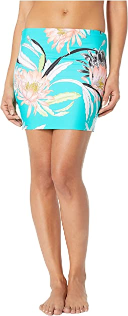 Shangri LA Floral Shirred High-Waist Bottoms