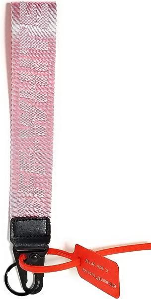 Krispy Soles Off White Industrial Belt Strap Lanyard Short Office Badge ID Holder Keychain Canvas Nylon Strap Virgil