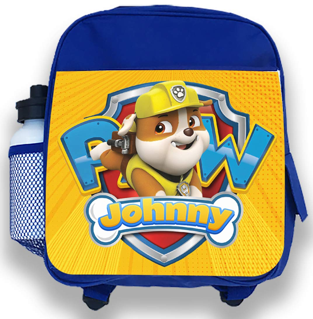 Personalised Kids Backpack Any Name Paw Patrol World Boys Childrens School Bag 7