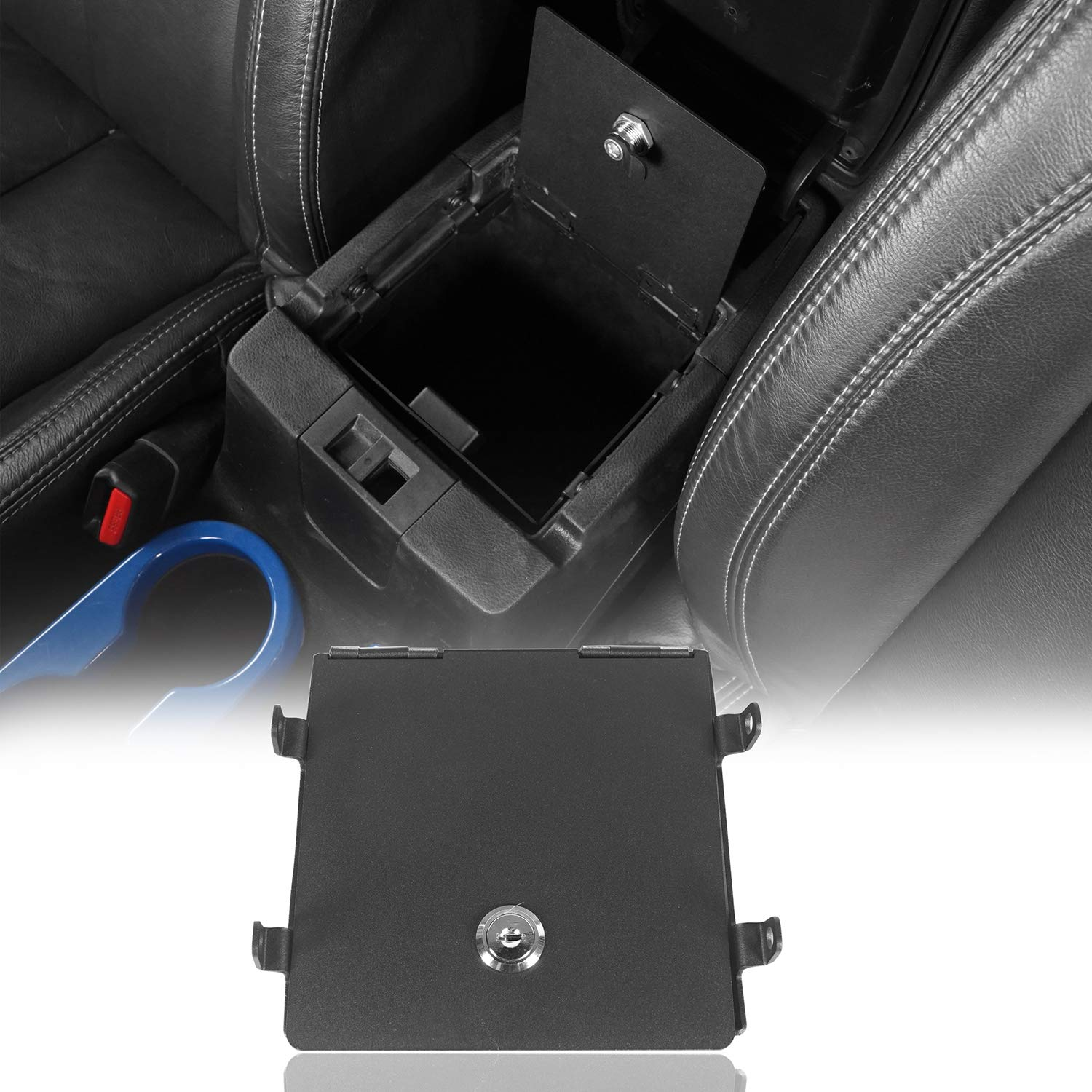 Matler Security Console Insert Center Console Box Lock Console Vault Safe for 2018 2019 Jeep Wrangler JL Current