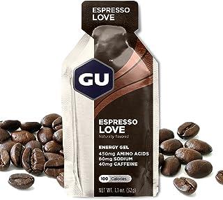 GU Energy Original Sports Nutrition Energy Gel (Espresso Love, 24-Count)