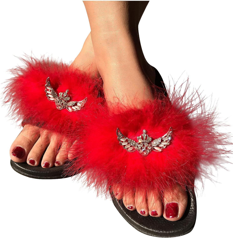 Flip Flops Sandals for Cheap SALE Start Women Casual Furry Topics on TV Bright Diamond Summer