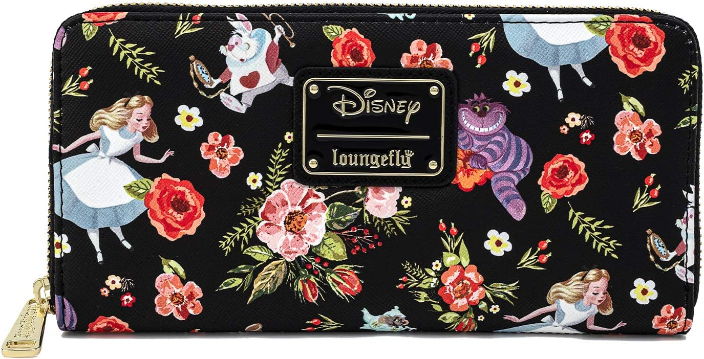 Loungefly Disney Alice In Ranking integrated 1st place Wonderland AOP Over Print Zip Ranking TOP1 All Arou