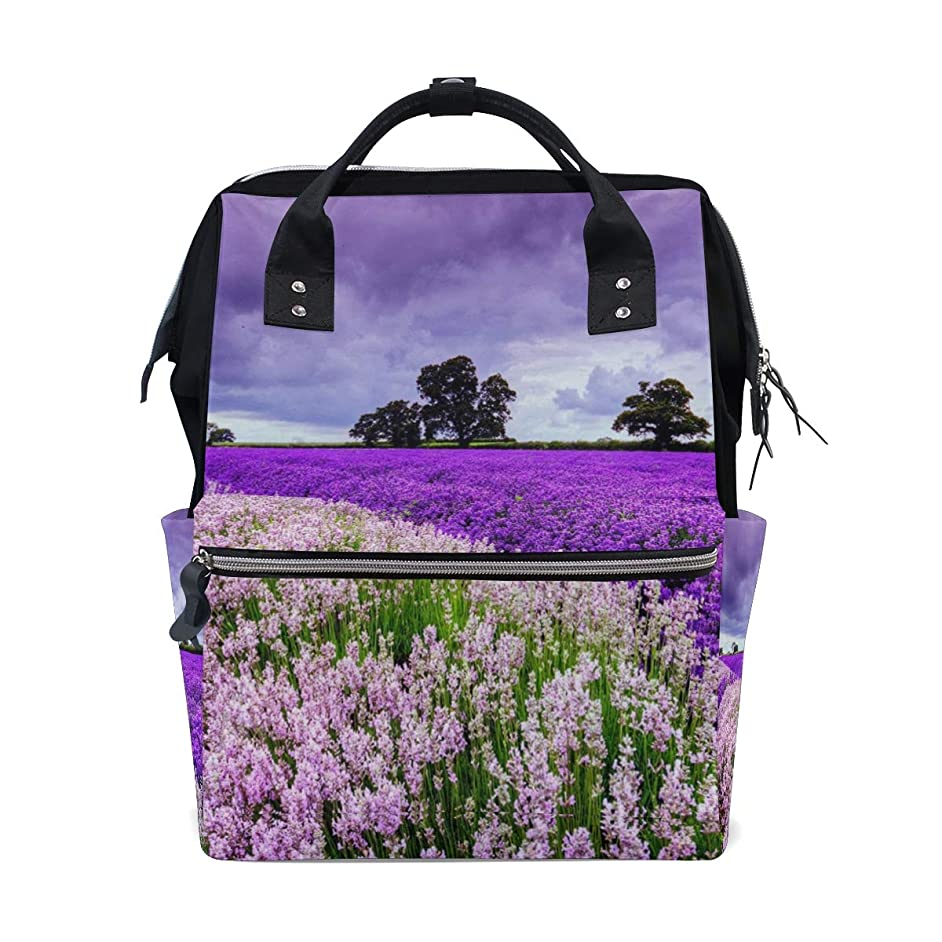 Lavender Purple School Backpack Large Capacity Mummy Bags Laptop Handbag Casual Travel Rucksack Satchel For Women Men Adult Teen Children