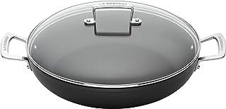 Le Creuset Cacerola de aluminio antiadherente con tapa, Ø 30 cm, libre de PFOA, para todas las fuentes de calor, incluso la inducción, antracita/plateado