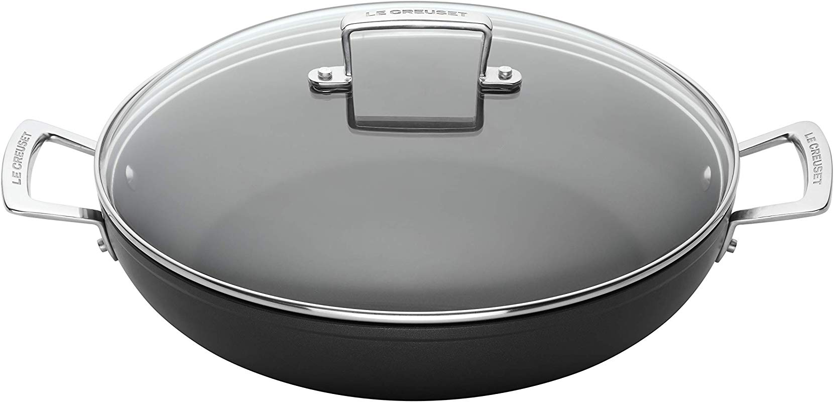 Le Creuset Toughened Nonstick 2 1 2 Quart Shallow Braiser With Lid