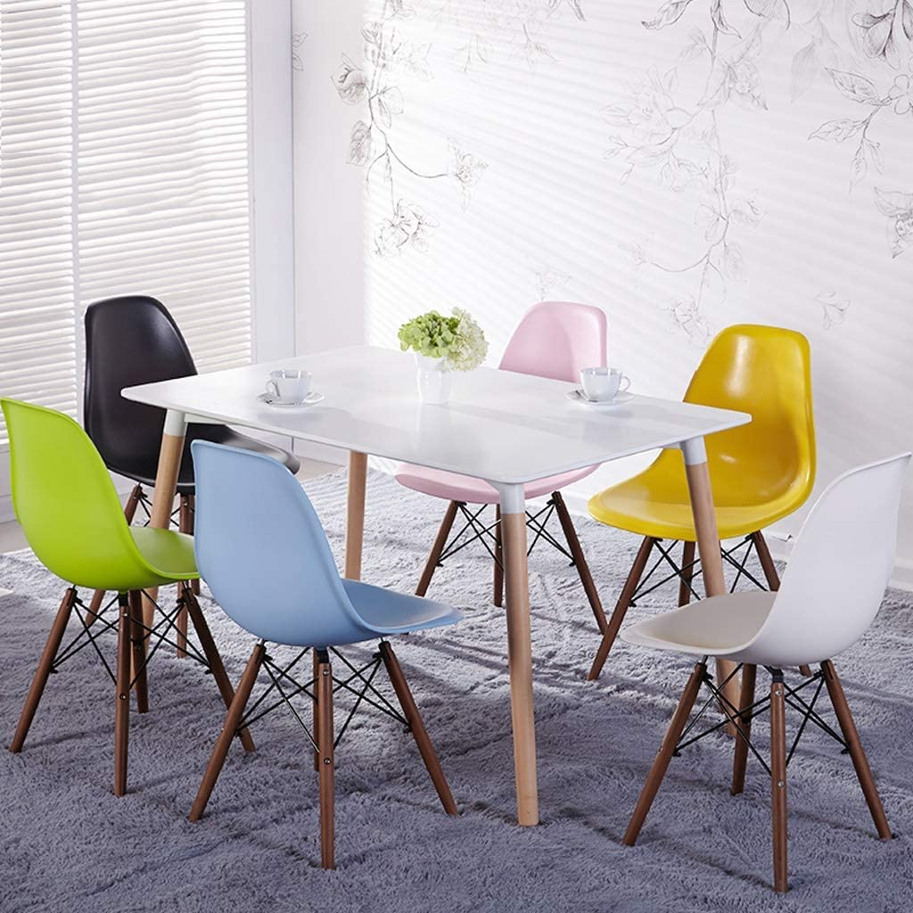 Président WGZ- Chaise de Salle, Chaise de Bureau Simple, créative Dossier, Chaise Loisirs, Maison Adulte Chaise de Salle Simple (Color : Black) Blue