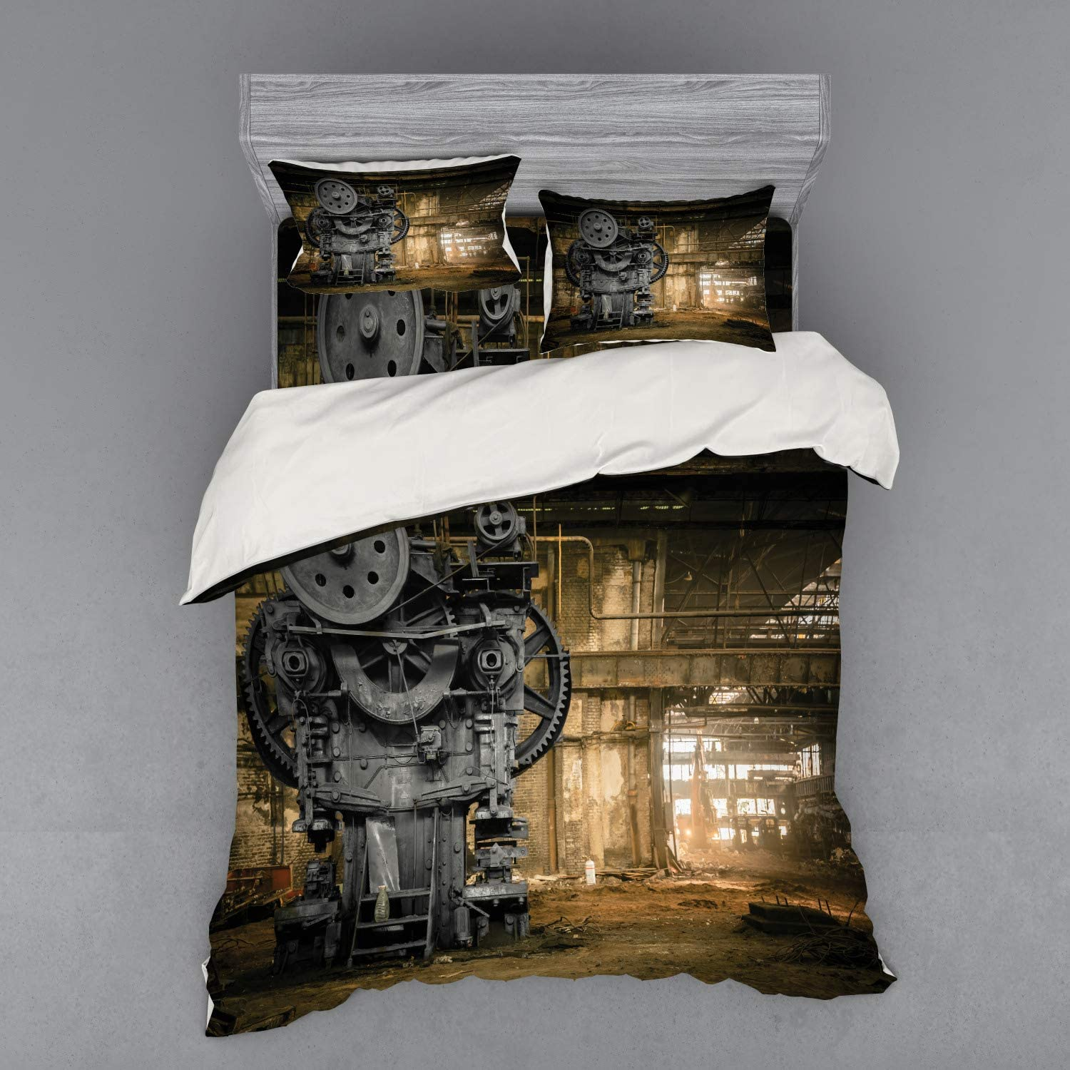 Lunarable Industrial Duvet ※ラッピング ※ Cover 開店記念セール Set for Crew Waiting Wrecking
