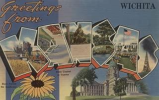 Greetings from Wichita, Kansas (12x18 Fine Art Print, Home Wall Decor Artwork Poster)