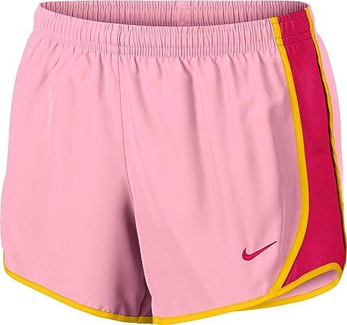 Nike g NK Dry Tempo courte Pantalon Court, Fille, MultiCouleure (rose Rush rose Jaune Rush rose)