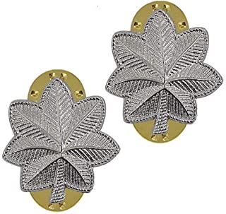 Army Rank LTC Lieutenant Colonel Mirror Finish Pin-On - Pair