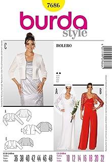 Burda Sewing Pattern 7686 - Misses Bolero, Semi-Fitted (10-12-14-16-18-20-22)