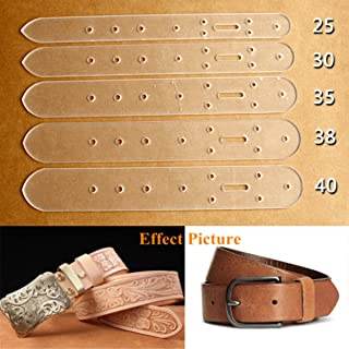 KINGSO 5 pcs Acrylic Leather Craft Belt Billet Buckle Head End Templates Tool