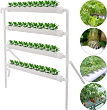 DreamJoy 4 Layers 36 Plant Sites Hydroponic Site Grow Kit 4 Pipes Hydroponic Growing System Water Culture Garden Plant System for Leafy Vegetables Lettuce Celery Cabbage