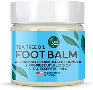 Foot Cure All-Natural Foot Balm – Moisturizing Foot Care Cream For Dry Skin, Cracked Heels & Callus Removal - Strong Antif...
